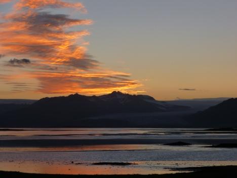 Sunset in Hofn, Iceland.